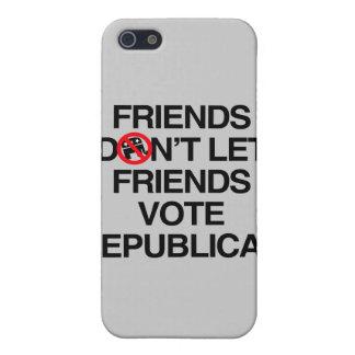 FRIENDS DON T LET FRIENDS VOTE REPUBLICAN png iPhone 5 Covers