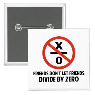 Friends Don't Divide by Zero Pinback Button