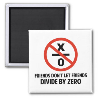 Friends Don't Divide by Zero 2 Inch Square Magnet
