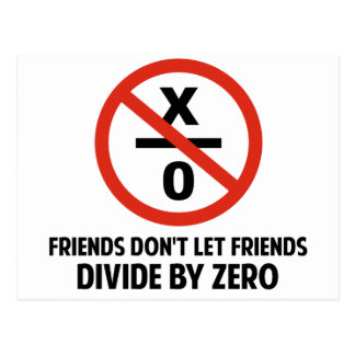 Friends Don't Divide by Zero Postcard