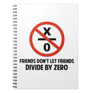 Friends Don't Divide by Zero Spiral Notebook