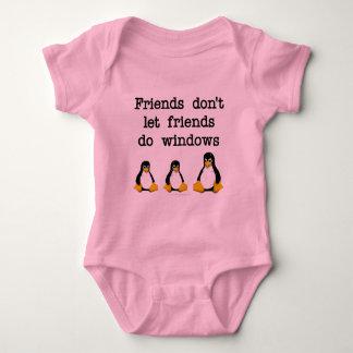 Friends don't let friends do windows tee shirt
