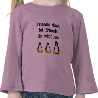Friends don't let friends do windows tee shirts