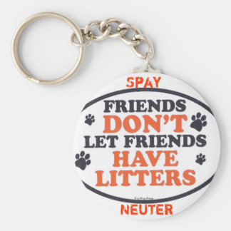 Friends Don't Let Friends Have Litters Basic Round Button Keychain