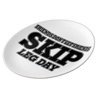 Friends Don't Let Friends Skip Leg Day Dinner Plate