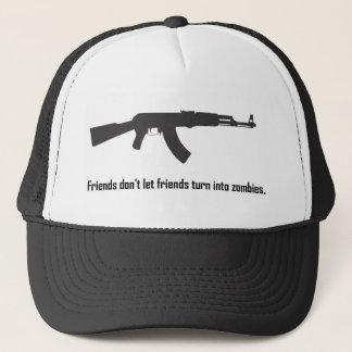 Friends don't let friends turn into zombies! trucker hat