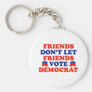 Friends Don't Let Friends Vote Democrat Basic Round Button Keychain
