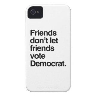 FRIENDS DON'T LET FRIENDS VOTE DEMOCRAT -.png iPhone 4 Case