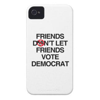 FRIENDS DON'T LET FRIENDS VOTE DEMOCRAT.png iPhone 4 Case-Mate Case