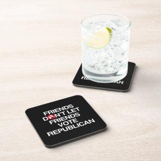 FRIENDS DON'T LET FRIENDS VOTE REPUBLICAN.png Drink Coasters
