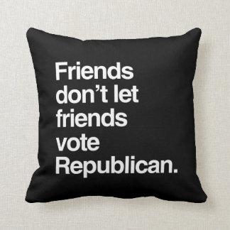FRIENDS DON'T LET FRIENDS VOTE REPUBLICAN -.png Throw Pillows