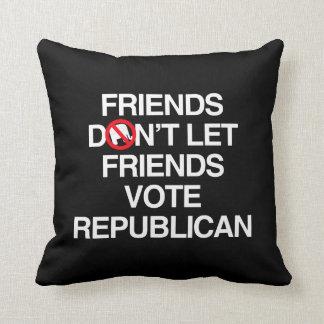 FRIENDS DON'T LET FRIENDS VOTE REPUBLICAN.png Pillow