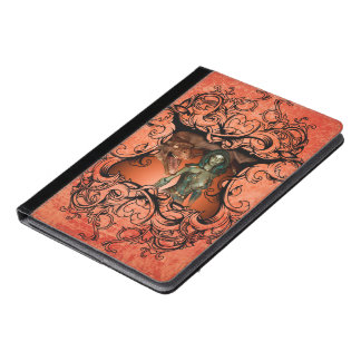 Friends, dragon with fighter in a decorative frame iPad air case