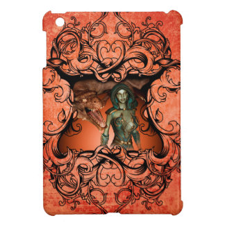 Friends, dragon with fighter in a decorative frame iPad mini covers