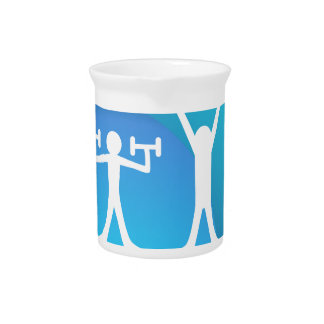 Friends Exercising Together Drink Pitcher