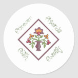 FRIENDS FAMILY FAITH FOREVER CLASSIC ROUND STICKER