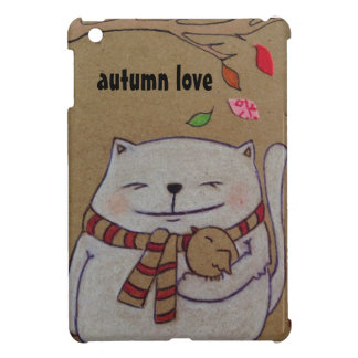 friends for life cute cat and bird hug case for the iPad mini