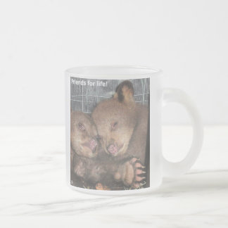 'Friends for life!' Frosted Glass Mug