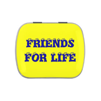 Friends for life jelly belly tin