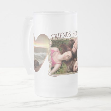 Friends Forever 0893 Frosted Glass Beer Mug