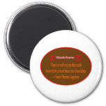 Friends Forever 2 Hearts Brown White Saint Thomas Refrigerator Magnet