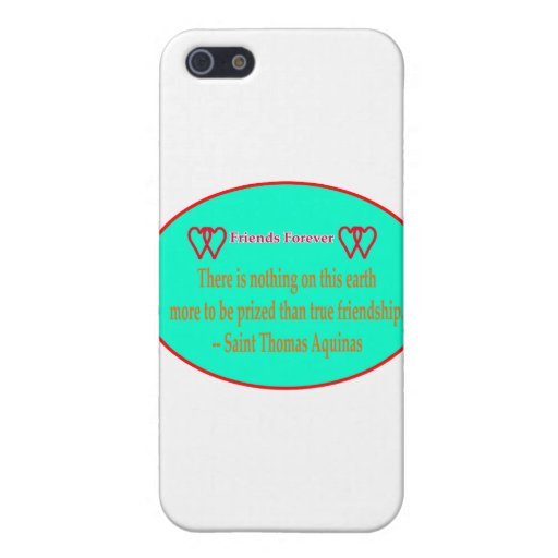 Friends Forever 2 Hearts Cyan  White Saint Thomas iPhone 5 Cover