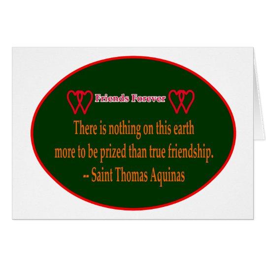 Friends Forever 2 Hearts Green White Saint Thomas Card