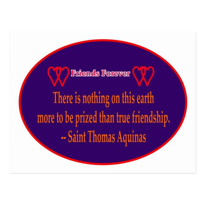 Friends Forever 2 Hearts Purple White Saint Thomas Postcard