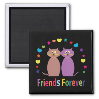 friends forever 2 inch square magnet