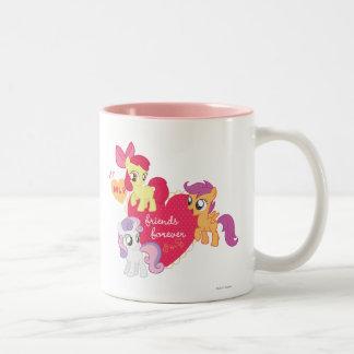 Friends Forever 3 Two-Tone Coffee Mug