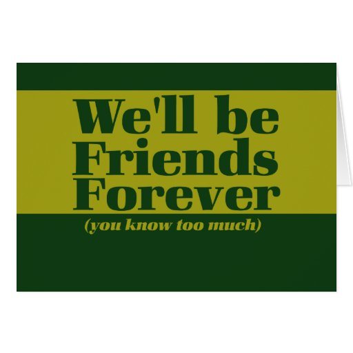 Friends forever cards