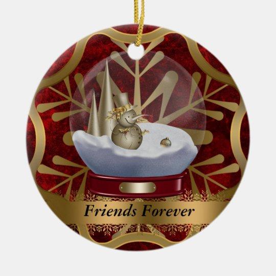 Friends Forever Christmas Ornament | Zazzle.com