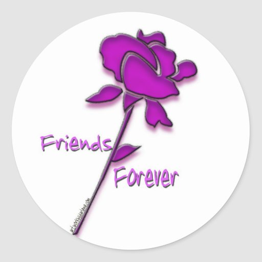 Friends forever classic round sticker