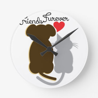 Friends Forever Round Wall Clock
