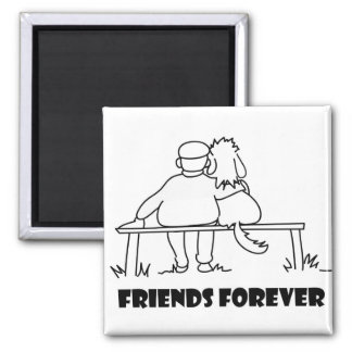 Friends Forever Customizable Gifts 2 Inch Square Magnet