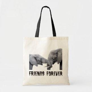 Friends Forever Elephants hugging / embracing Tote Bag