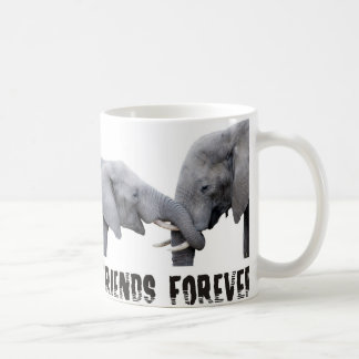 Friends Forever Elephants hugging / kissing Coffee Mug