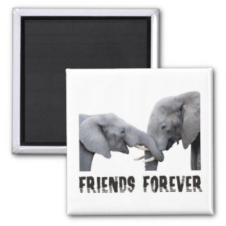 Friends Forever Elephants hugging / kissing Magnet
