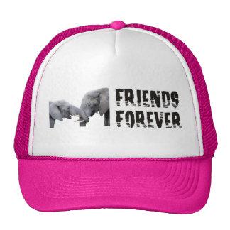 Friends Forever Elephants hugging / kissing Trucker Hat