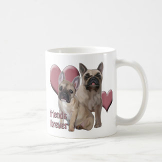 """""""Friends Forever"""" french bulldogs Classic White Coffee Mug"""
