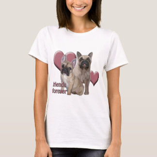 """Friends Forever"" french bulldogs T-Shirt"