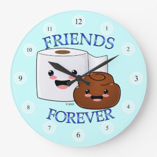 Friends Forever Happy Poo and TP Clock