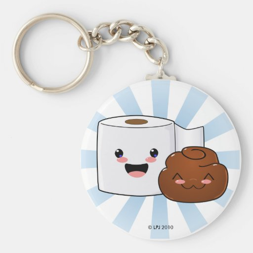 Friends Forever Happy Poo and TP Keychain