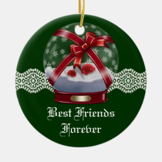 Friends Forever Heart Christmas Ornament