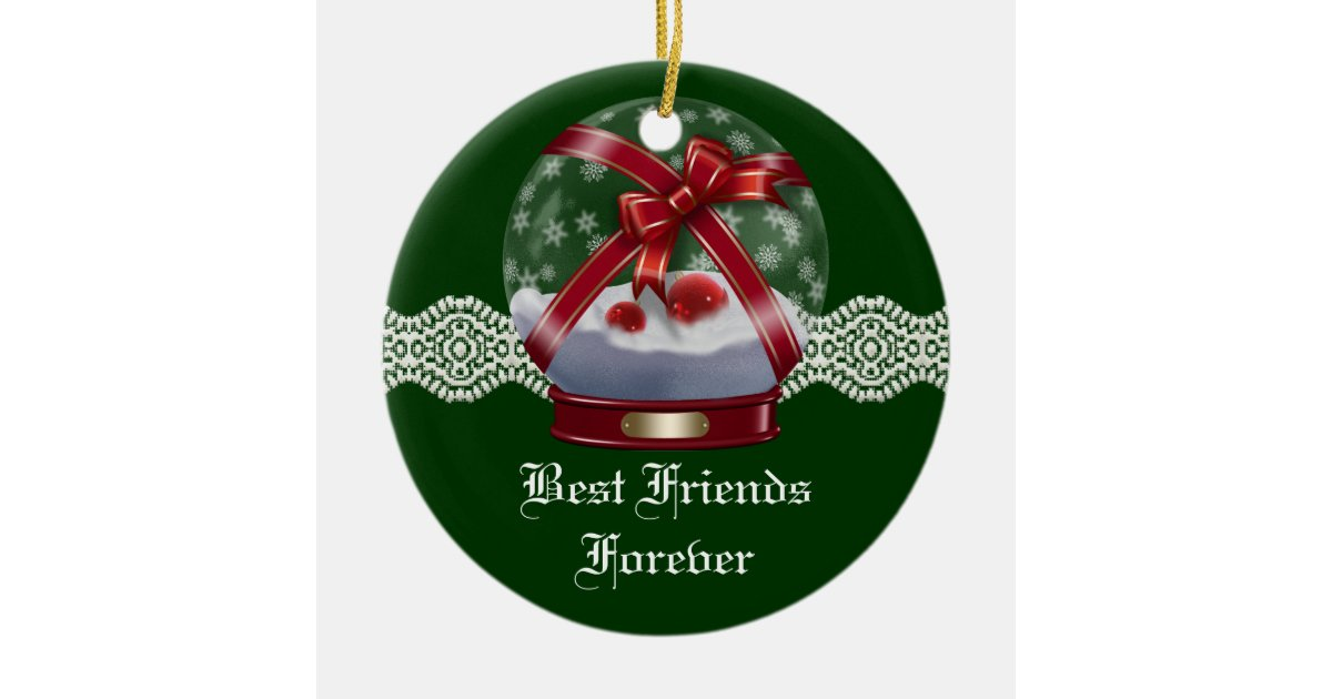 Friends Forever Heart Christmas Ornament   Zazzle.com