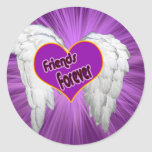 Friends forever heart with wings sticker