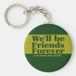 Friends forever key chains