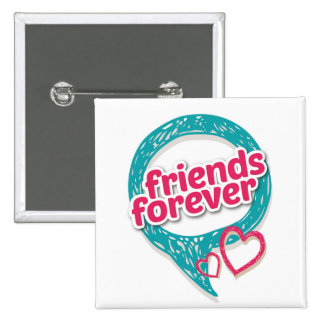 Friends Forever Love hearts <3 Button