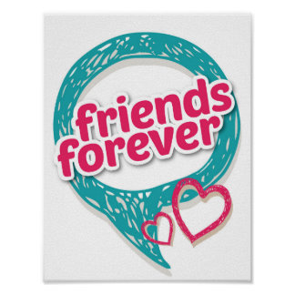 Friends Forever Love hearts <3 Poster