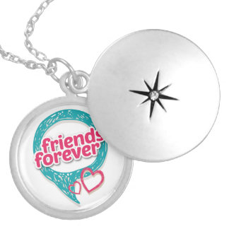 Friends Forever Love hearts <3 Silver Plated Necklace